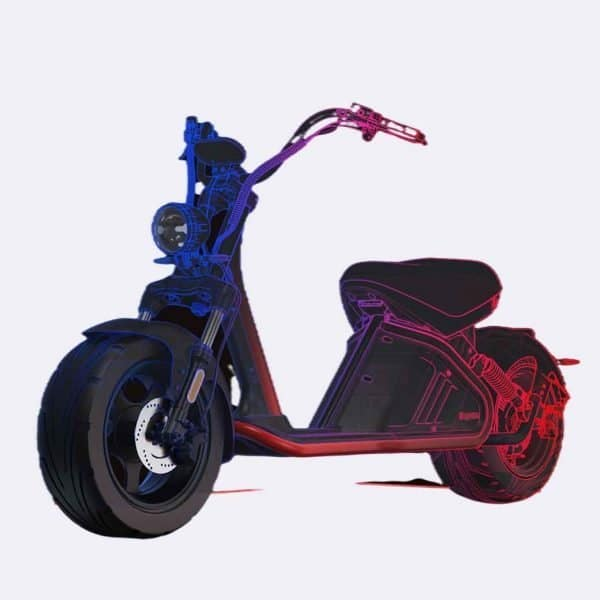 fat tire scooter 2000w