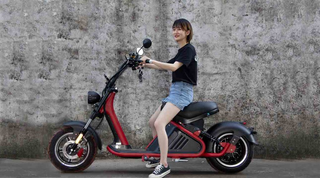 fat tire moped scooter